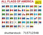 all flags of america  the full... | Shutterstock .eps vector #715712548