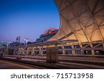 denver union station at dusk | Shutterstock . vector #715713958