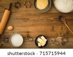 flatlay collection of tools and ... | Shutterstock . vector #715715944