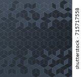 polygonal vector pattern... | Shutterstock .eps vector #715717558