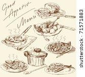 menu original hand drawn set | Shutterstock .eps vector #71571883