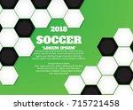 soccer ball poster  banner ... | Shutterstock .eps vector #715721458