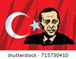 september 15  2017. turkish... | Shutterstock .eps vector #715730410