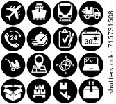 set of simple icons on a theme... | Shutterstock .eps vector #715731508
