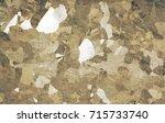 military desert camouflage... | Shutterstock . vector #715733740