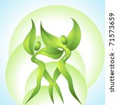 Eco Icon With Green Dancers