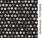 seamless primitive jumble... | Shutterstock .eps vector #715736698