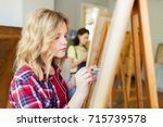 art school  creativity and... | Shutterstock . vector #715739578