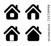 houses icon set for web sites... | Shutterstock .eps vector #715739998