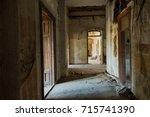 mystical interior  ruins of an... | Shutterstock . vector #715741390