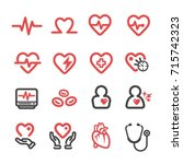 heart medical thin line icon | Shutterstock .eps vector #715742323