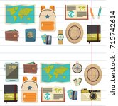 flat vector web banners set on... | Shutterstock .eps vector #715742614