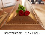funeral and mourning concept  ... | Shutterstock . vector #715744210