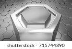 Abstract Hexagonal Metal...