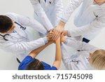 medicine  healthcare  teamwork... | Shutterstock . vector #715745098