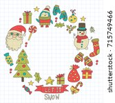 christmas xmas new year vector... | Shutterstock .eps vector #715749466