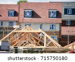 newly built homes in a... | Shutterstock . vector #715750180