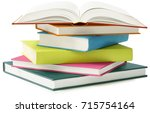 stack of books isolated on... | Shutterstock . vector #715754164