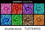 vector set of colorful... | Shutterstock .eps vector #715754953