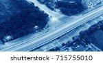 high speed vehicles bright... | Shutterstock . vector #715755010