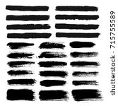 brush strokes text boxes.... | Shutterstock .eps vector #715755589