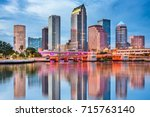 tampa  florida  usa downtown... | Shutterstock . vector #715763140