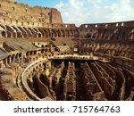 colosseum  coliseum  of...   Shutterstock . vector #715764763