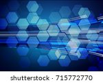 binary circuit future... | Shutterstock .eps vector #715772770