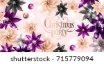 christmas party invitation...   Shutterstock .eps vector #715779094