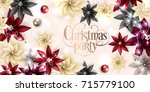 christmas party invitation... | Shutterstock .eps vector #715779100
