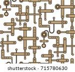 seamless vector mechanical...   Shutterstock .eps vector #715780630