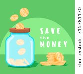 save money concept. saving... | Shutterstock . vector #715781170