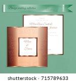 luxury bronze shiny wedding... | Shutterstock .eps vector #715789633