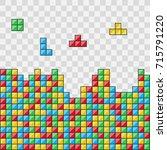 color blocks. video game.... | Shutterstock .eps vector #715791220