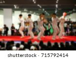 the blurry photo group of... | Shutterstock . vector #715792414