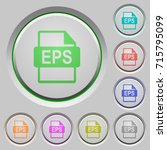 eps file format color icons on... | Shutterstock .eps vector #715795099