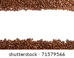Coffee Beans Stripes Isolated...