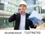 professional man in jacket and... | Shutterstock . vector #715798750