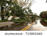 flooded streets of a... | Shutterstock . vector #715801060