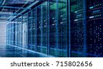 network server room with... | Shutterstock . vector #715802656