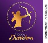 happy dussehra celebrations.... | Shutterstock .eps vector #715803928