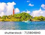jupiter  florida  usa inlet and ... | Shutterstock . vector #715804840