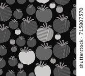 stripe  tomato seamless pattern.... | Shutterstock .eps vector #715807570