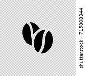 coffee grain vector icon eps 10. | Shutterstock .eps vector #715808344