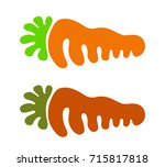 carrot vector icon isolated on... | Shutterstock .eps vector #715817818
