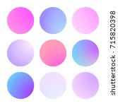 modern gradient set with round...
