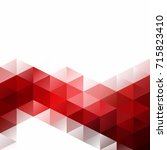 red grid mosaic background ... | Shutterstock .eps vector #715823410