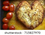 close up. sliced chicken steak... | Shutterstock . vector #715827970
