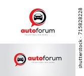 auto forum logo template design ... | Shutterstock .eps vector #715828228