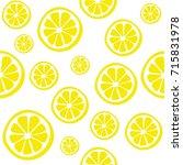 lemon seamless vector pattern.    Shutterstock .eps vector #715831978